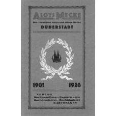 Aloys Mecke. 1901-1926