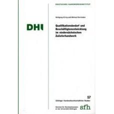 Qualifikationsbedarf und Beschäftigungsentwicklung im niedersächsischen Zulieferhandwerk