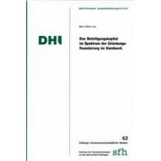 Das Beteiligungskapital im Spektrum der Gründungsfinanzierung im Handwerk