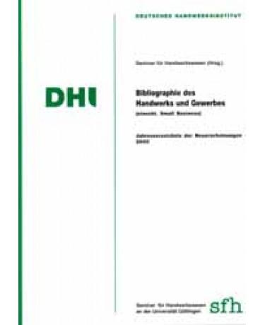Bibliographie des Handwerks und Gewerbes 2000 (einschl. Small Business)
