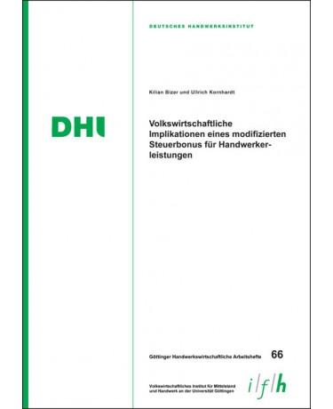 Arbeitsheft 66: Volkswirtschaftliche Implikationen eines modifizierten Steuerbonus für Handwerkerleistungen