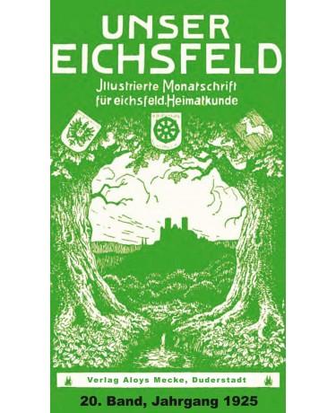 E-Book: Unser Eichsfeld, 20. Band, Jahrgang 1925, Reprint 2013