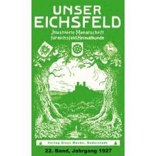 E-Book: Unser Eichsfeld, 22. Band,  Jahrgang 1927 - Reprint 2013