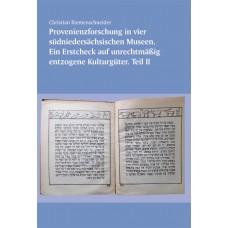 Provenienzforschung in vier südniedersächsischen Museen.  Ein Erst-Check auf unrechtmäßig entzogene Kulturgüter. Teil II