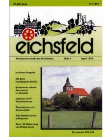 Eichsfelder Heimatzeitschrift, Heft 4, April 1999