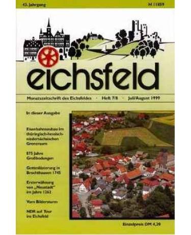 Eichsfelder Heimatzeitschrift, Heft 7/8, Juli/August 1999