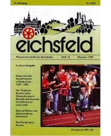 Eichsfelder Heimatzeitschrift, Heft 10, Oktober 1999