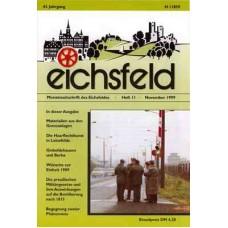 Eichsfelder Heimatzeitschrift, Heft 11, November 1999