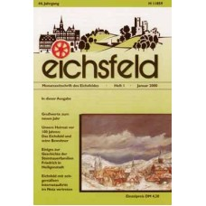 Eichsfelder Heimatzeitschrift, Heft 1, Januar 2000