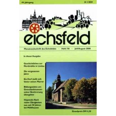 Eichsfelder Heimatzeitschrift, Heft 7/8, Juli/August 2000