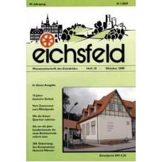 Eichsfelder Heimatzeitschrift, Heft 10, Oktober 2000