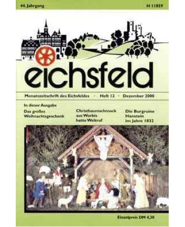 Eichsfelder Heimatzeitschrift, Heft 12, Dezember 2000