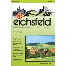 Eichsfelder Heimatzeitschrift, Heft 3, März 2001