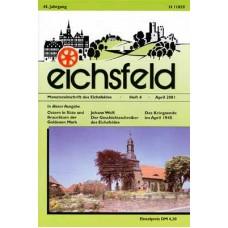 Eichsfelder Heimatzeitschrift, Heft 4, April 2001
