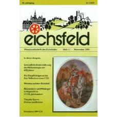 Eichsfelder Heimatzeitschrift, Heft 11, November 2001
