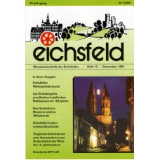 Eichsfelder Heimatzeitschrift, Heft 12, Dezember 2001