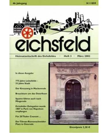 Eichsfelder Heimatzeitschrift, Heft 3, März 2002