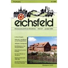 Eichsfelder Heimatzeitschrift, Heft 6/7, Juni/Juli 2002