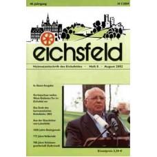Eichsfelder Heimatzeitschrift, Heft 8, August 2002