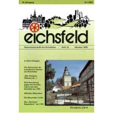 Eichsfelder Heimatzeitschrift, Heft 10, Oktober 2002