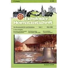 Eichsfelder Heimatzeitschrift, Heft 3, März 2003