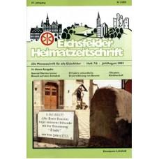 Eichsfelder Heimatzeitschrift, Heft 7/8, Juli/August 2003