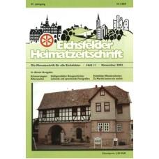 Eichsfelder Heimatzeitschrift, Heft 11, November 2003
