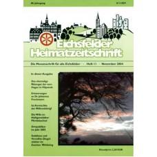 Eichsfelder Heimatzeitschrift, Heft 11, November 2004