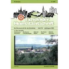 Eichsfelder Heimatzeitschrift, Heft 7/8, Juli/August 2005