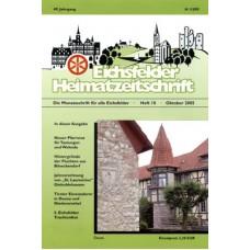 Eichsfelder Heimatzeitschrift, Heft 10, Oktober 2005