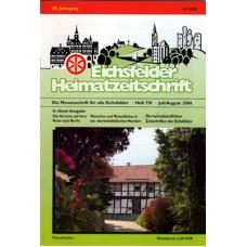 Eichsfelder Heimatzeitschrift, Heft 7/8, Juli/August 2006