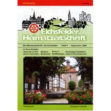 Eichsfelder Heimatzeitschrift, Heft 9, September 2006