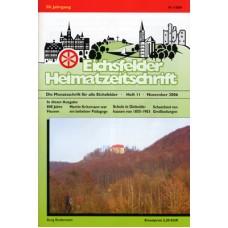 Eichsfelder Heimatzeitschrift, Heft 11, November 2006