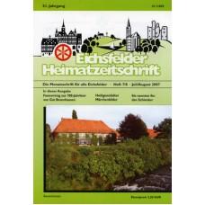 Eichsfelder Heimatzeitschrift, Heft 7 und 8, Juli/August 2007