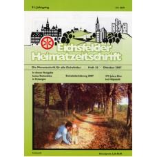 Eichsfelder Heimatzeitschrift, Heft 10, Oktober 2007