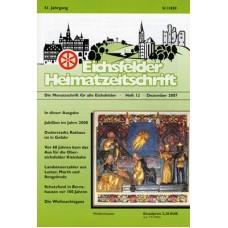 Eichsfelder Heimatzeitschrift, Heft 12, Dezember 2007