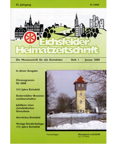Eichsfelder Heimatzeitschrift, Heft 1, Januar 2008