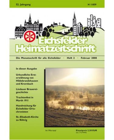 Eichsfelder Heimatzeitschrift, Heft 2, Februar 2008