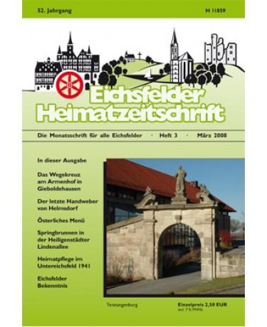 Eichsfelder Heimatzeitschrift, Heft 3, März 2008