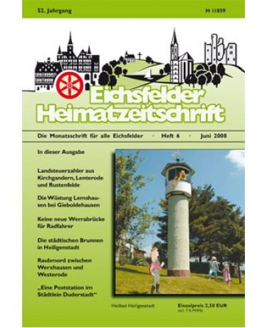 Eichsfelder Heimatzeitschrift, Heft 6, Juni 2008