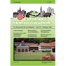 Eichsfelder Heimatzeitschrift, Heft 7/8, Juli/August 2008