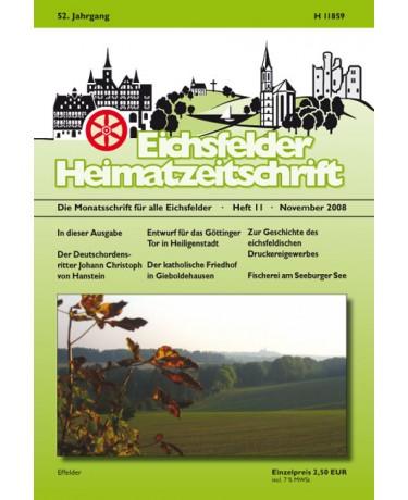 Eichsfelder Heimatzeitschrift, Heft 11, November 2008