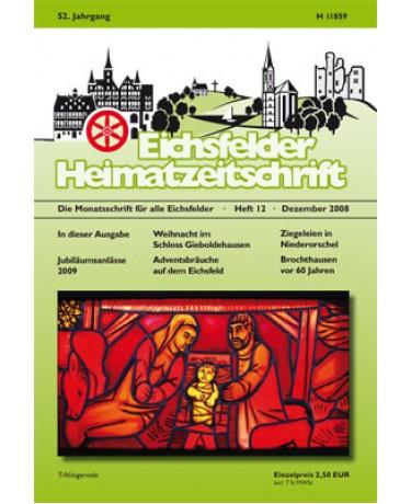 Eichsfelder Heimatzeitschrift, Heft 12, Dezember 2008