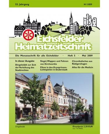 Eichsfelder Heimatzeitschrift, Heft 5, Mai 2009