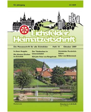 Eichsfelder Heimatzeitschrift, Heft 10, Oktober 2009