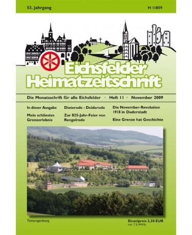 Eichsfelder Heimatzeitschrift, Heft 11, November 2009