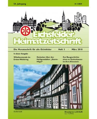 Eichsfelder Heimatzeitschrift, Heft 3, März 2010