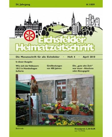 Eichsfelder Heimatzeitschrift, Heft 4, April 2010