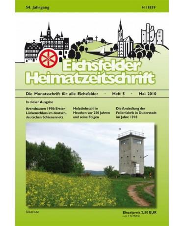 Eichsfelder Heimatzeitschrift, Heft 5, Mai 2010