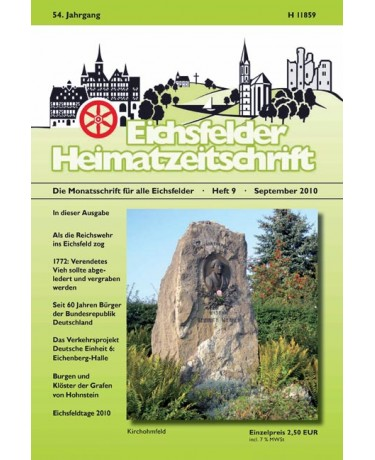Eichsfelder Heimatzeitschrift, Heft 9, September 2010